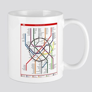 Moscow metro map subway lines Mugs