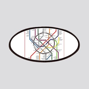 Moscow metro map subway lines Patch