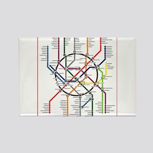 Moscow metro map subway lines Magnets