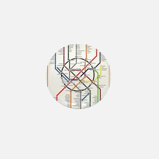 Moscow metro map subway lines Mini Button