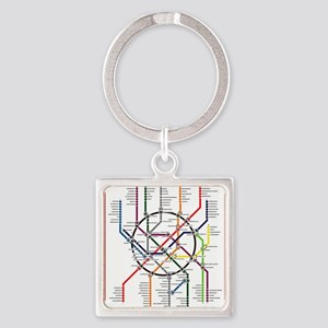 Moscow metro map subway lines Keychains