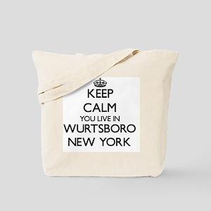 Keep calm you live in Wurtsboro New York Tote Bag