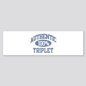 Authentic Triplet Bumper Sticker