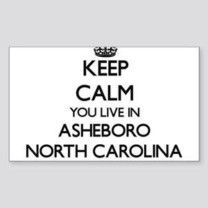 Keep calm you live in Asheboro North Carol Sticker