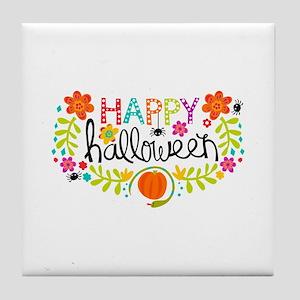 HAPPY HALLOWEEN Tile Coaster
