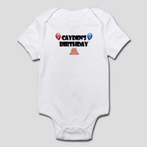 Cayden's Birthday Infant Bodysuit