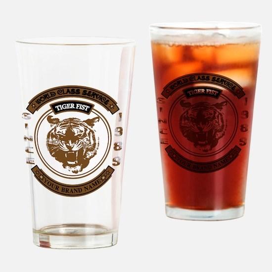 Tiger Fist Drinking Glass