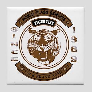 Tiger Fist Tile Coaster