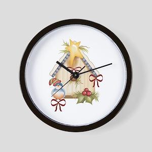 CHRISTMAS BLUEBIRD Wall Clock