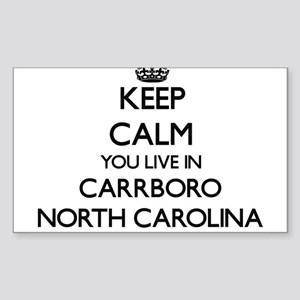 Keep calm you live in Carrboro North Carol Sticker