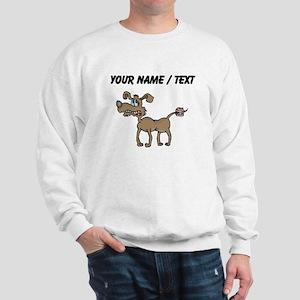 Custom Dentures On Dog Tail Sweatshirt