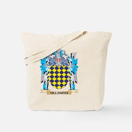 Villanova Coat of Arms - Family Crest Tote Bag
