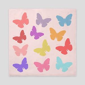 Multicolored Butterflies Queen Duvet