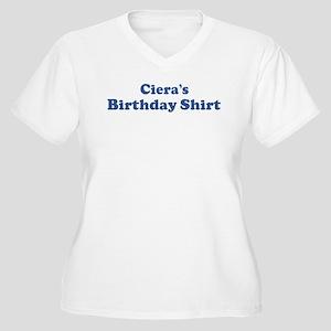 Ciera birthday shirt Women's Plus Size V-Neck T-Sh