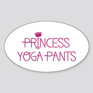 Princess Yoga Sticker (Oval)