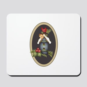 APPLIQUE WINTER CARDINAL Mousepad