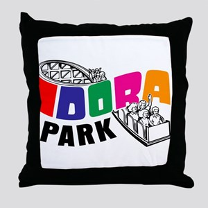 Idora Park Rollercoaster Throw Pillow