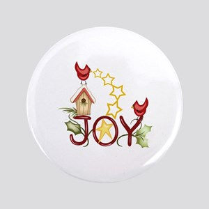 """CARDINAL WITH STARS 3.5"""" Button"""