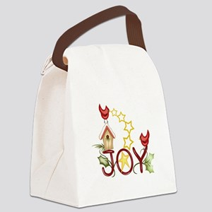 CARDINAL WITH STARS Canvas Lunch Bag