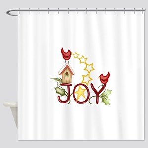 CARDINAL WITH STARS Shower Curtain