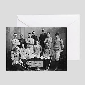 Vintage Montreal Hockey Team Photo Greeting Card