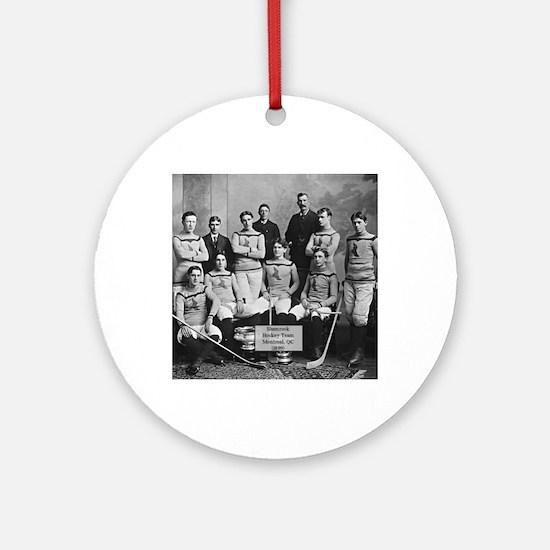 Vintage Montreal Hockey Team Photo Round Ornament