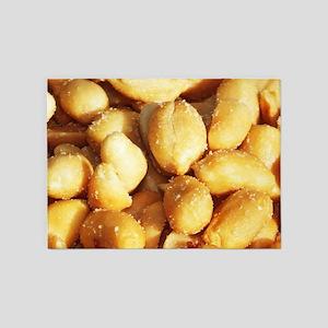 food, many small salted peanuts 5'x7'Area Rug