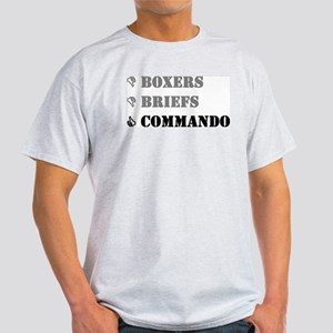 Boxers, Briefs, Commando Grey T-Shirt
