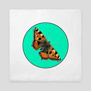 Tortoiseshell Butterfly Painting Queen Duvet