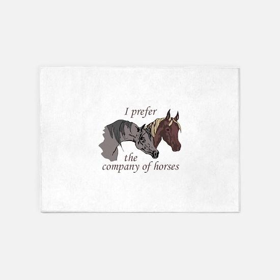 COMPANY OF HORSES 5'x7'Area Rug