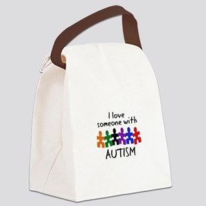 I LOVE SOMEONE WITH AUTISM Canvas Lunch Bag