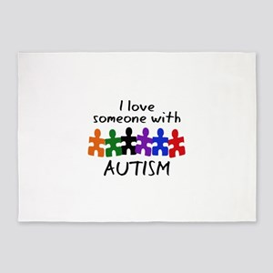 I LOVE SOMEONE WITH AUTISM 5'x7'Area Rug