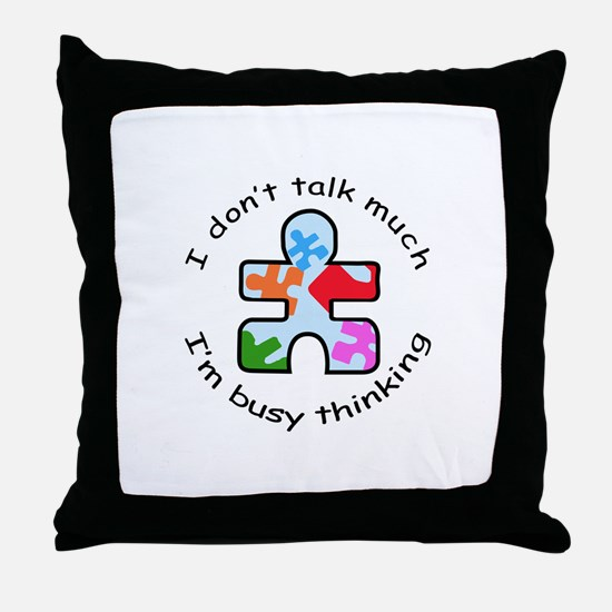 BUSY THINKING Throw Pillow