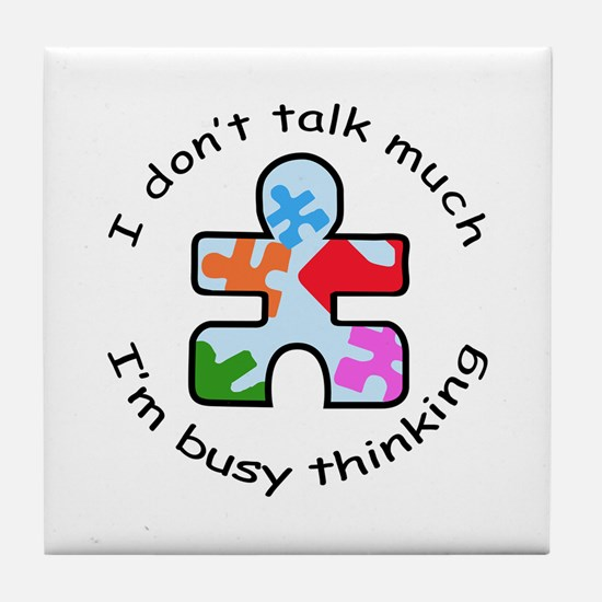 BUSY THINKING Tile Coaster