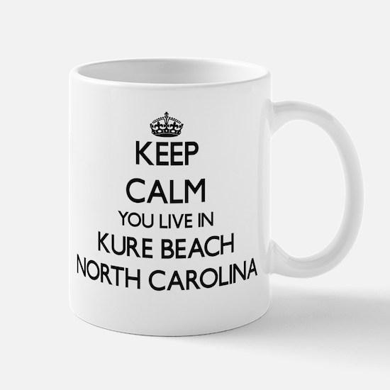 Keep calm you live in Kure Beach North Caroli Mugs