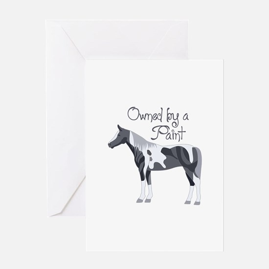 OWNED BY A PAINT HORSE Greeting Cards