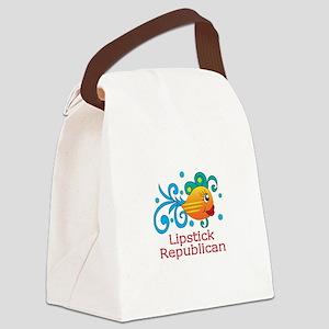 LIPSTICK REPUBLICAN Canvas Lunch Bag