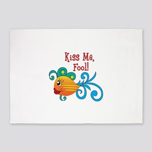 KISS ME FOOL FISH 5'x7'Area Rug
