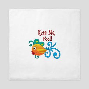 KISS ME FOOL FISH Queen Duvet
