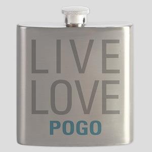 Live Love Pogo Flask