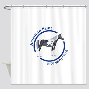 AMERICAN PAINT HORSE Shower Curtain