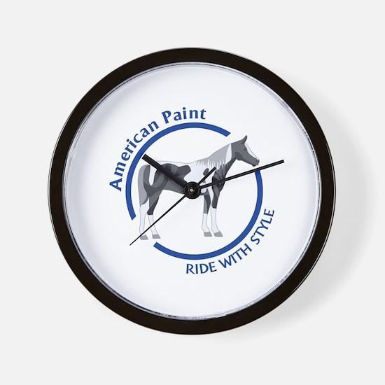 AMERICAN PAINT HORSE Wall Clock