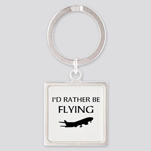 Rather Be Flying1 Keychains