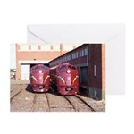 PRR E8a's 5711 & 5809 Greeting Cards (Pk of 10)