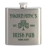 Personalized irish pub Flask Bottles