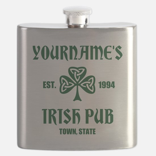 Personalized Irish Pub Flask