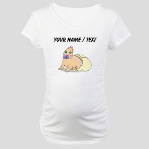 Custom Dinosaur Hatching Maternity T-Shirt
