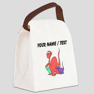 Custom Dinosaur Family Canvas Lunch Bag