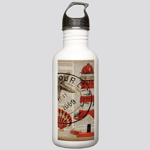 vintage lighthouse sea Stainless Water Bottle 1.0L