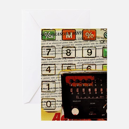 retro geeky electronics Greeting Cards